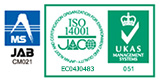 Certification mark ISO14001:EC04J0483